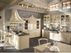 - Cucina componibile laccata con penisola DHIALMA - COMPOSIZIONE 01 - Marchi Cucine