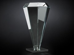 - Mirrored glass pedestal DIAMANTE | Mirrored glass pedestal - VGnewtrend