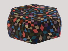 - Upholstered wool pouf DIAMOND BLACK | Pouf - Golran