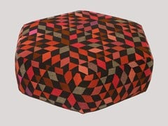- Pouf imbottito in lana DIAMOND STRAWBERRY | Pouf - Golran