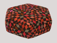 - Upholstered wool pouf DIAMOND STRAWBERRY | Pouf - Golran