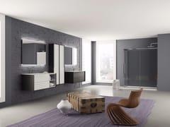 - Laminate bathroom cabinet / vanity unit DIECI - Composizione 3 - INDA®