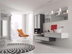 - Laminate bathroom cabinet / vanity unit DIECI - Composizione 4 - INDA®
