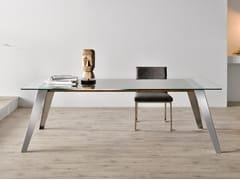 Tavolo da pranzo da salotto rettangolare in acciaio inox in stile modernoNORDIC   Tavolo da pranzo - ALTINOX MINIMAL DESIGN