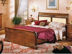 - Solid wood double bed with tufted headboard DOGI   Bed with tufted headboard - Arvestyle