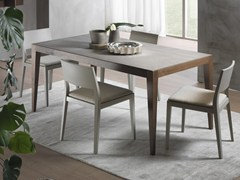 - Extending rectangular table DOMINIQUE | Cimento® table - Pacini & Cappellini