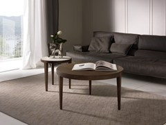 - Tavolino basso rotondo DOMINIQUE | Tavolino in legno impiallacciato - Pacini & Cappellini