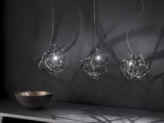 - Lampada a sospensione a LED in nichel DOODLE - TERZANI
