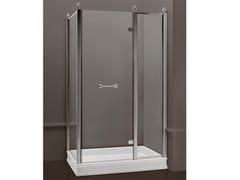 - Box doccia rettangolare in vetro satinato con porte a battente DORSET | Box doccia rettangolare - BATH&BATH