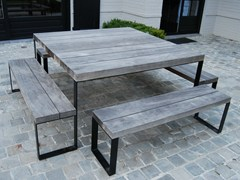 - Square wooden garden table DOUBLE G | Square table - CABUY D.