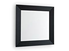 - Square wall-mounted framed mirror DOUBLE | Square mirror - Calligaris