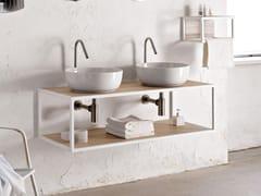 Mobile lavabo doppio sospesoFRAME | Mobile lavabo doppio - SCARABEO CERAMICHE