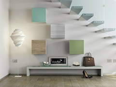 - Laminate wall cabinet with door DR•ØNE | Wall cabinet with door - De Rosso