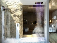 - Contemporary style LED overhead shower Dream 4 Getti - RGB CROMOTERAPIA - Bossini