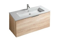 - Wall-mounted vanity unit with drawers DREAM - 7245 - GALASSIA