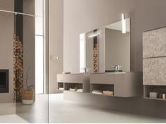 Mobile lavabo doppio sospeso con specchioDRESS 01 - ARBLU