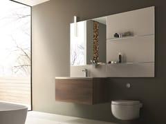 Mobile lavabo sospeso con specchioDRESS 03 - ARBLU