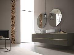 Mobile lavabo doppio sospeso con specchioDRESS 05 - ARBLU