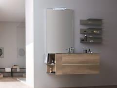 Mobile lavabo sospeso con cassettiDRESS 06 - ARBLU