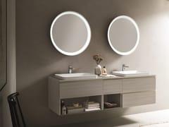 Mobile lavabo doppio sospeso con specchioDRESS 08 - ARBLU