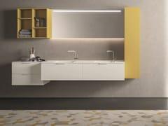 Mobile lavabo componibileDROP - COMPOSIZIONE D09 - NOVELLO