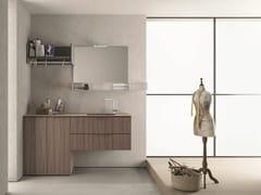 Mobile lavanderia componibileDROP - COMPOSIZIONE D11 - NOVELLO