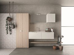 Mobile lavanderia a colonnaDROP - COMPOSIZIONE D13 - NOVELLO