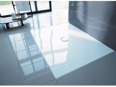 Piatto doccia antiscivolo filo pavimento rettangolare in acrilicoDURAPLAN | Piatto doccia rettangolare - DURAVIT