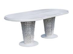 - Tavolo da giardino ovale in polipropilene per contract DYNASTY 22460 - SKYLINE design