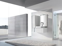 - Lacquered single vanity unit E.45 COMPOSITION 4 - Arcom