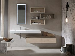- Washbasin countertop / bathroom cabinet E.GÒ - COMPOSITION 42 - Arcom