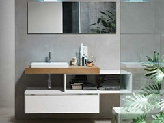 - Single wooden vanity unit E.GÒ - COMPOSITION 43 - Arcom