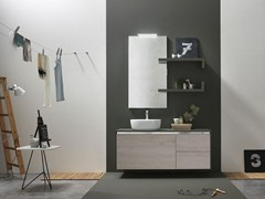 - Lacquered single vanity unit E.GÒ - COMPOSITION 51 - Arcom