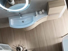 - Single larch vanity unit E.LY - COMPOSITION 35 - Arcom