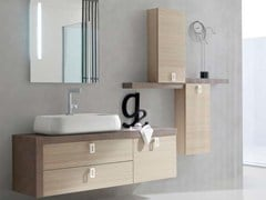 - Larch bathroom cabinet / vanity unit E.LY - COMPOSITION 12 - Arcom