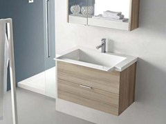 - Single larch vanity unit E.LY - COMPOSITION 17 - Arcom