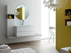 - Single wooden vanity unit E.LY - COMPOSITION 36 - Arcom