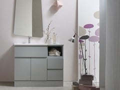 - Lacquered single vanity unit E.LY - COMPOSITION 58 - Arcom