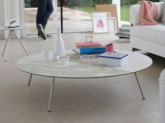 - Low Xeramica coffee table for living room EASY-4 | Round coffee table - Joli