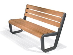 - Panchina con schienale ECO BENCH - LAB23
