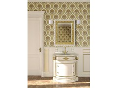 - Lacquered vanity unit with mirror ELBA CM08E - LA BUSSOLA