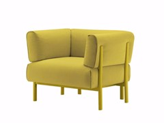 - Fabric armchair with armrests ELEVEN - 860 | Fabric armchair - Alias
