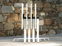 - Folding aluminium table base with 4-spoke base ELICA | Folding table base - FAST