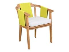 Sedia da giardino in Batyline® con braccioliELK | Sedia con braccioli - 7OCEANS DESIGNS