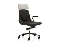 - Low back executive chair with 5-spoke base with headrest ELLE 02 | Executive chair with headrest - Emmegi