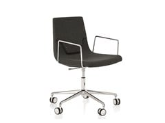 - Height-adjustable swivel task chair with armrests ELLE 48 | Height-adjustable task chair - Emmegi