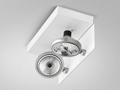 - Adjustable ceiling metal spotlight ELLE | Metal spotlight - PANZERI