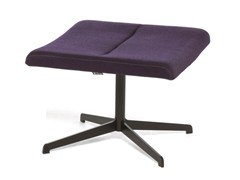 - Footstool with 4-spoke base ELLE LOUNGE | Footstool with 4-spoke base - Emmegi