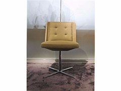- Upholstered fabric chair with 4-spoke base EMBRACE | Chair with 4-spoke base - ESTEL GROUP