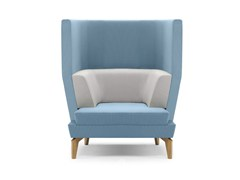 - Upholstered high-back armchair with armrests ENTENTE | High-back armchair - Boss Design